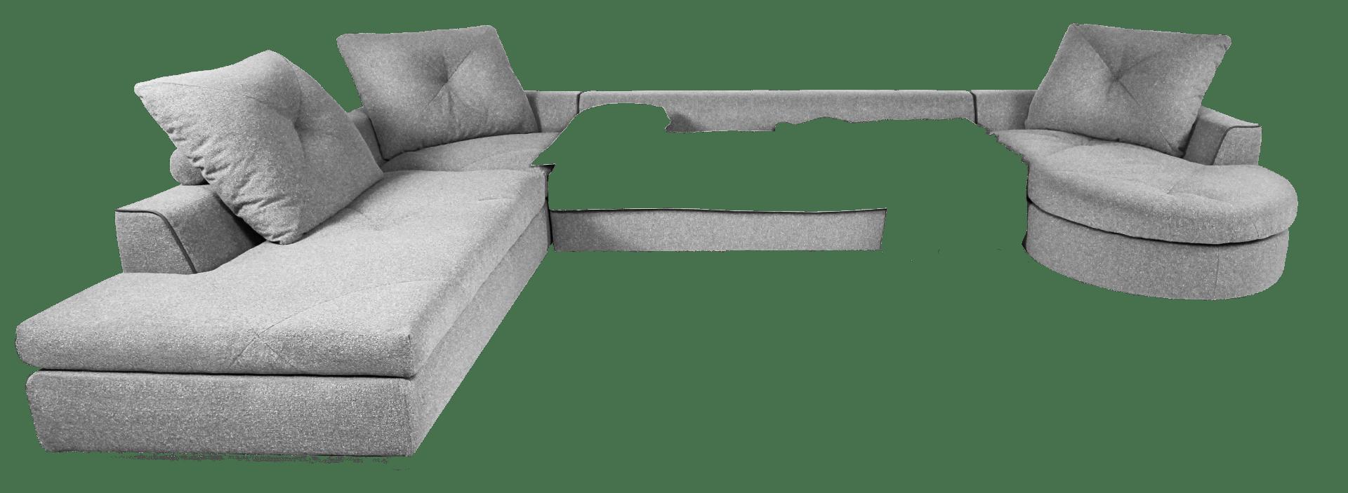 Модульный диван Вивальди с закругленным шезлонгом